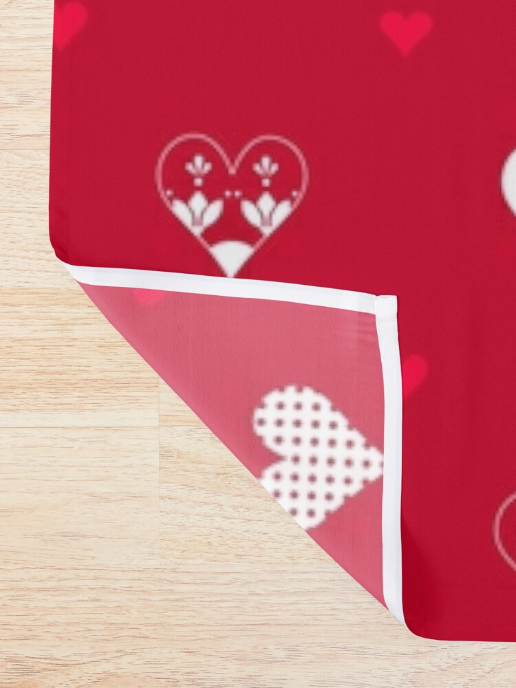 Alternate view of Valentines Day Hearts- Red Shower Curtain