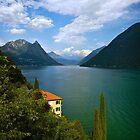 Lakeside View, Lago di Lugano, Italy by Giles Clare