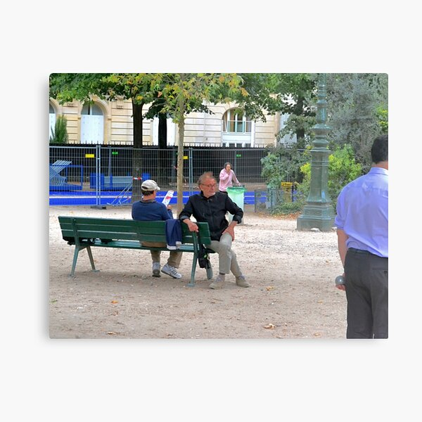 Watching the Pitch Metal Print
