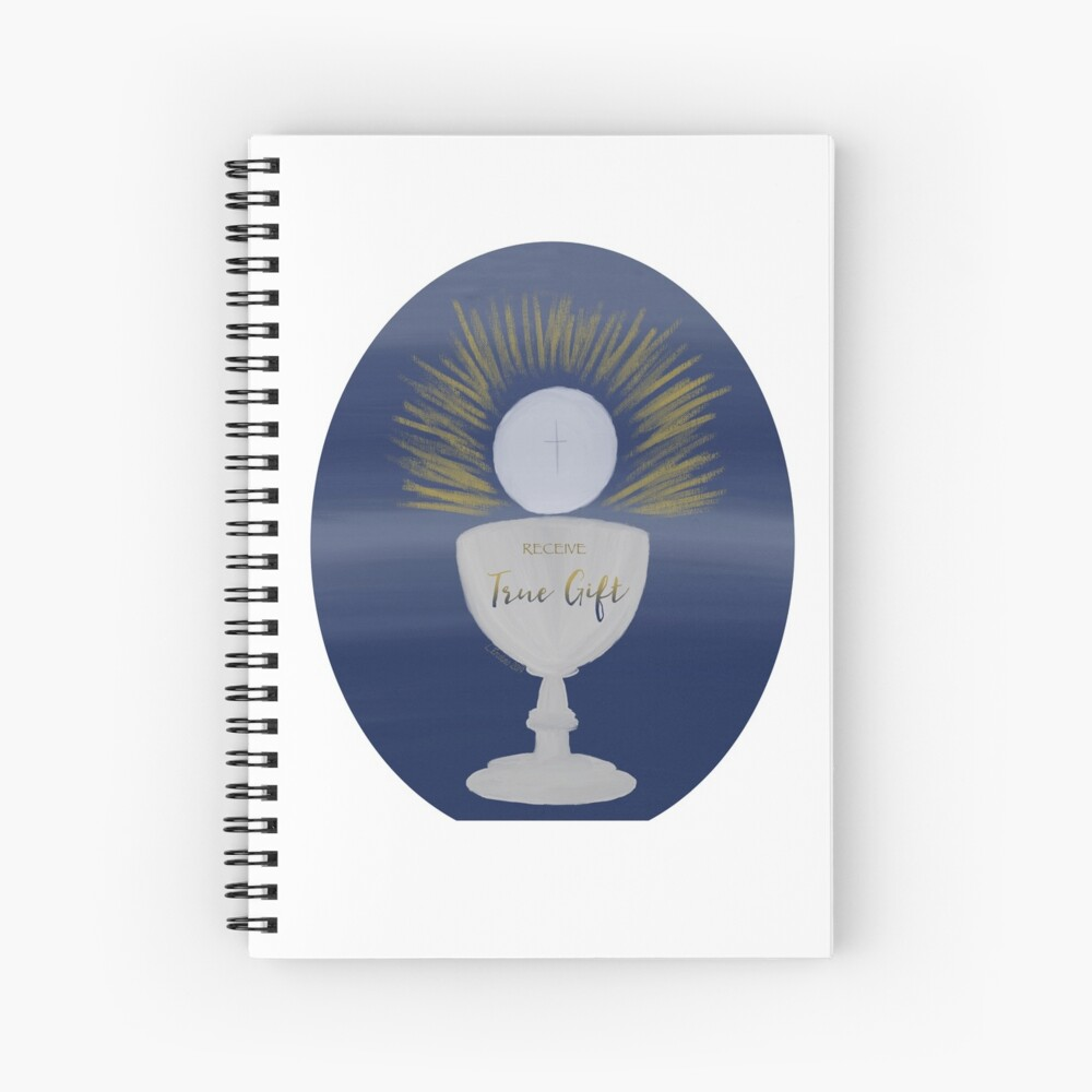 The Eucharist, True Gift Spiral Notebook