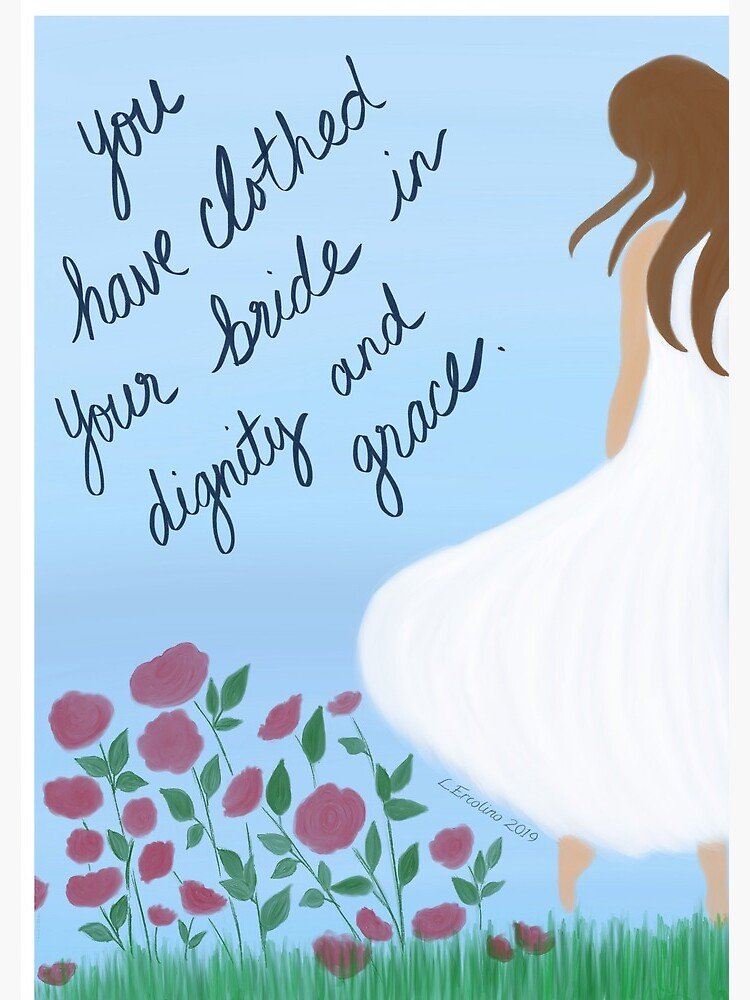 Scripture Art, clothed in dignity and grace by YouAreMadeNew