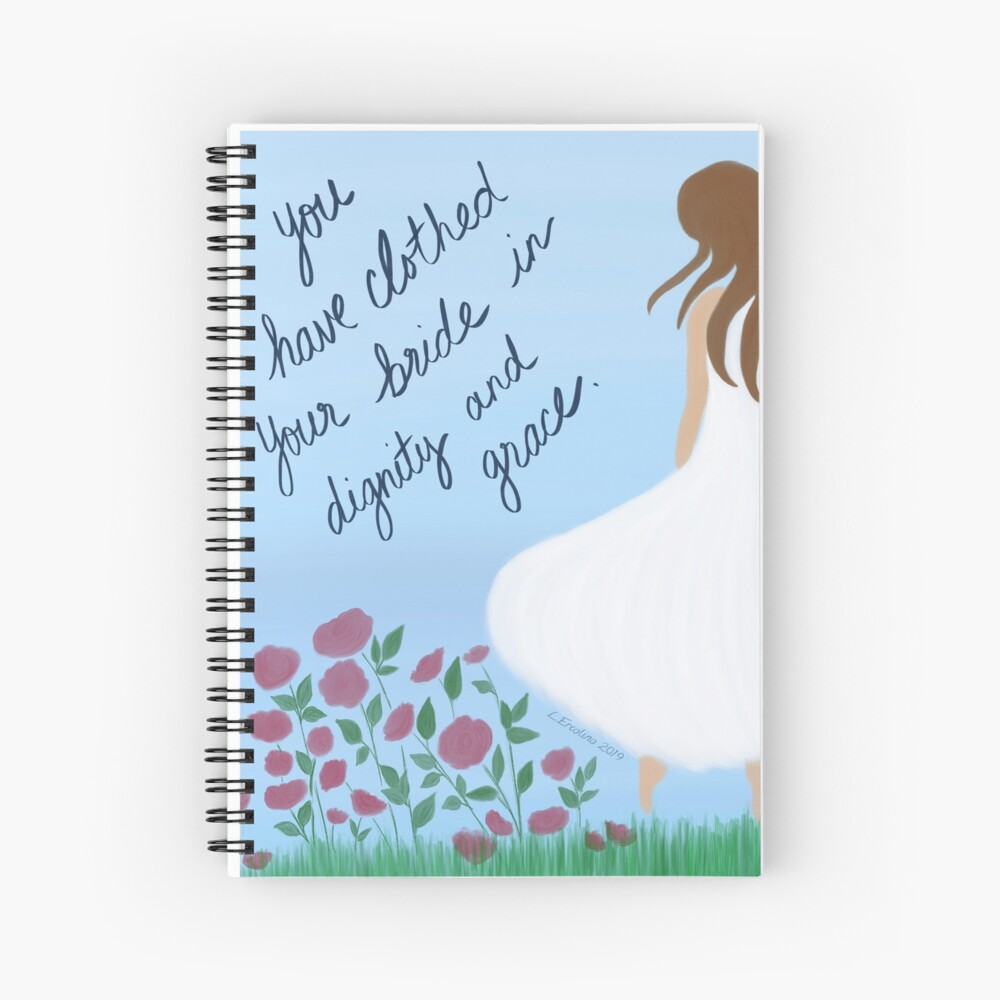 Scripture Art, clothed in dignity and grace Spiral Notebook