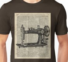 Vintage Sewing machine Dictionary Book Page Unisex T-Shirt