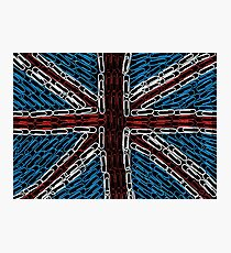 The Union Jack of Paperclips Photographic Print