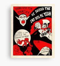 Thanks Drac - Black White and Red All Over Canvas Print