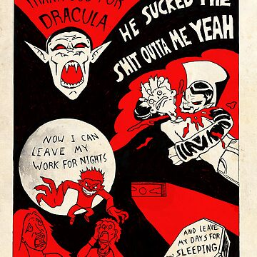 Thanks Drac - Black White and Red All Over by TyCart