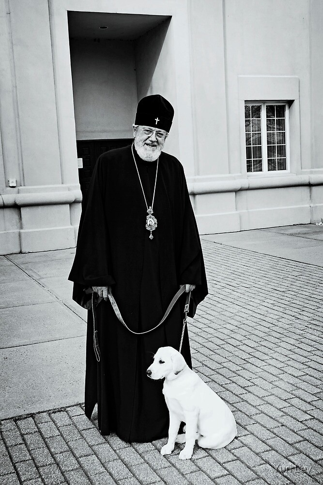The Bishop and his Dog by Yuri Lev