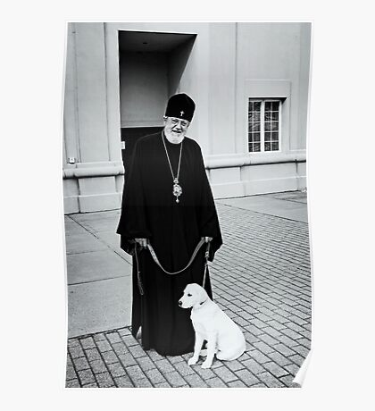 The Bishop and his Dog Poster