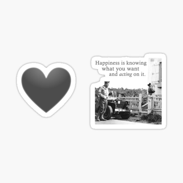 Happiness Is Knowing What You Want And Acting On It - A Meme For Lovers Sticker