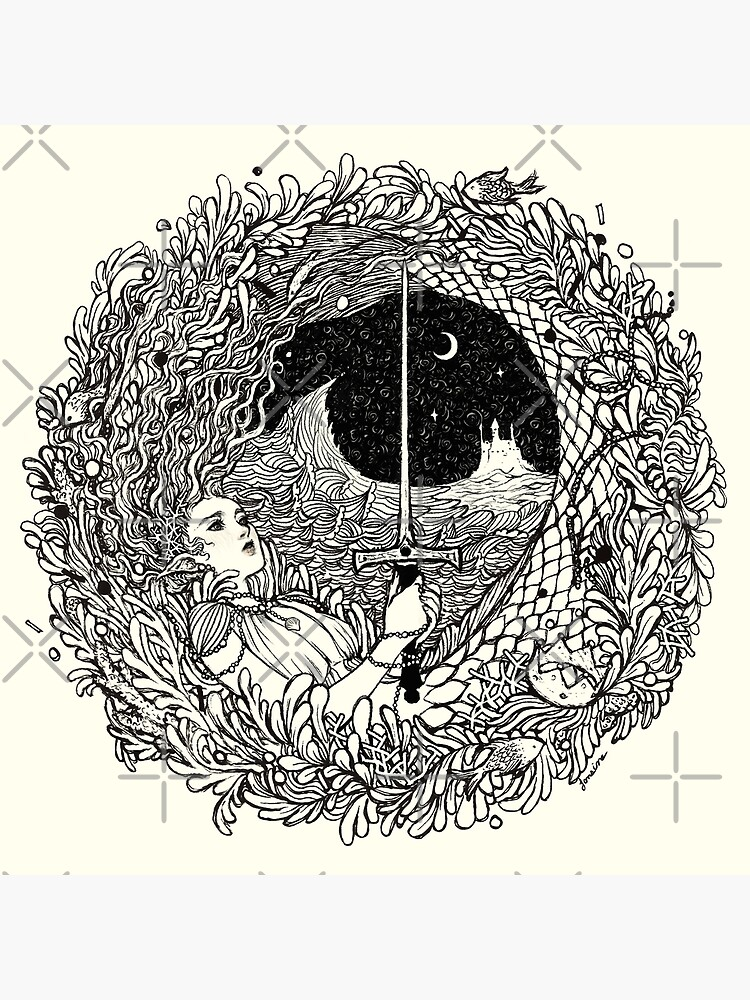 The Mermaid & The Sword by JanainaArt