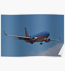 N293WN, Southwest Airlines, Boeing 737-7H4 Poster