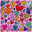 Smiling Heart Print by doodlebymeg