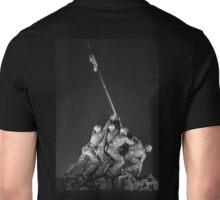 Iwo Jima 9 BW Unisex T-Shirt