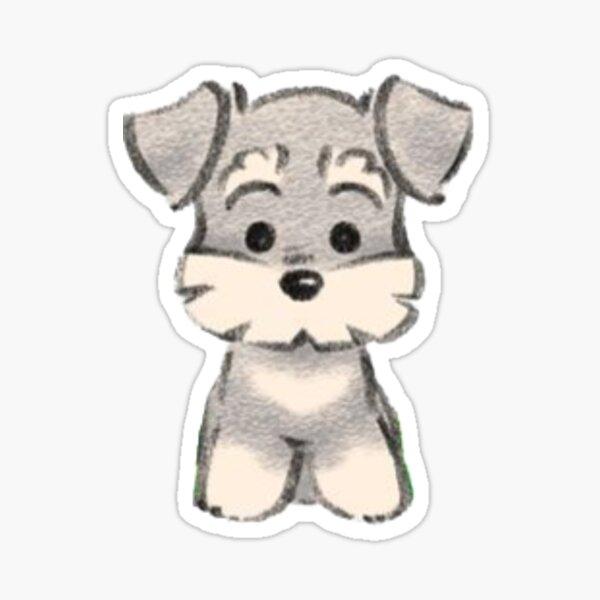 schnauzer sticker Sticker