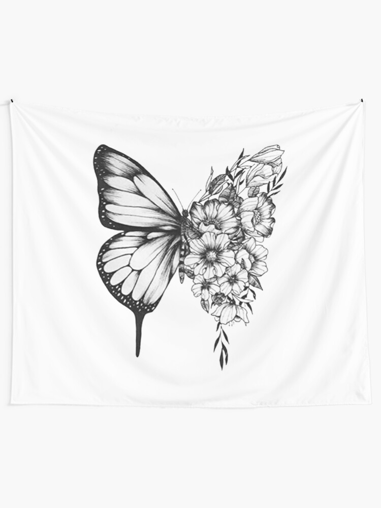Alternate view of Shawn Mendes Butterfly Tattoo Tapestry