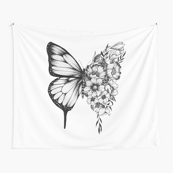 Shawn Mendes Butterfly Tattoo Tapestry