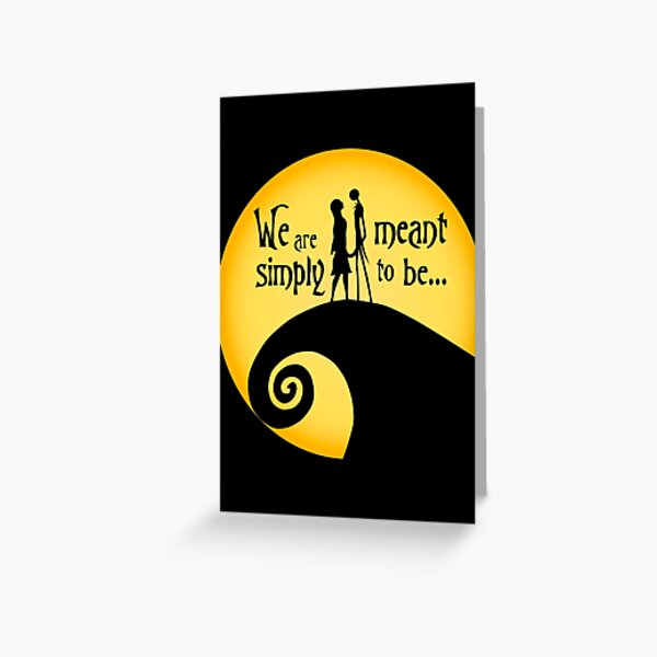 Jack and Sally Greeting Card