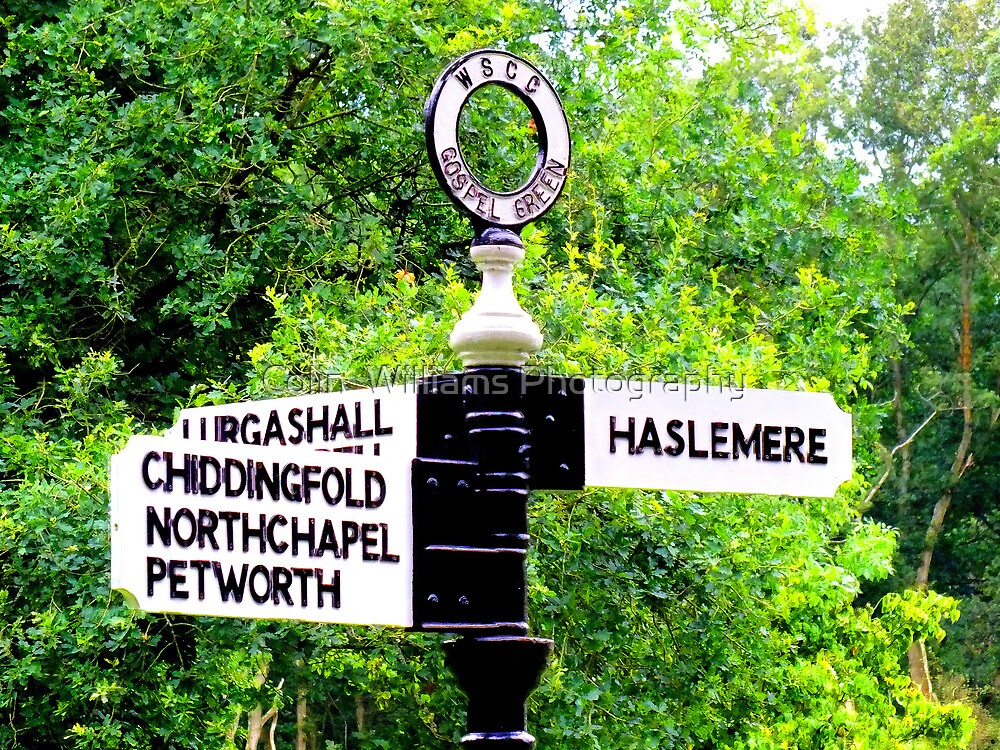 Turn Right For Haselmere ! by Colin  Williams Photography