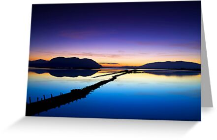 reflection of the sunset by plamenx