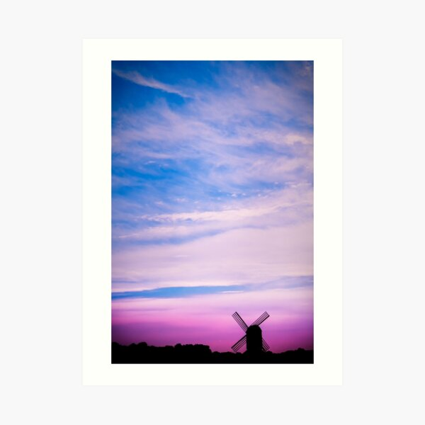 Pitstone Windmill Sunset Art Print