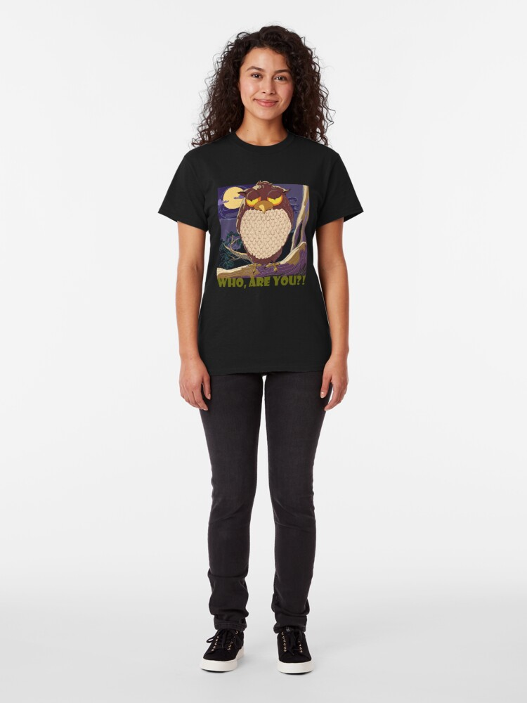 Alternate view of Who Are You, Owl Classic T-Shirt