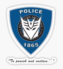 Transformers - Police Sticker