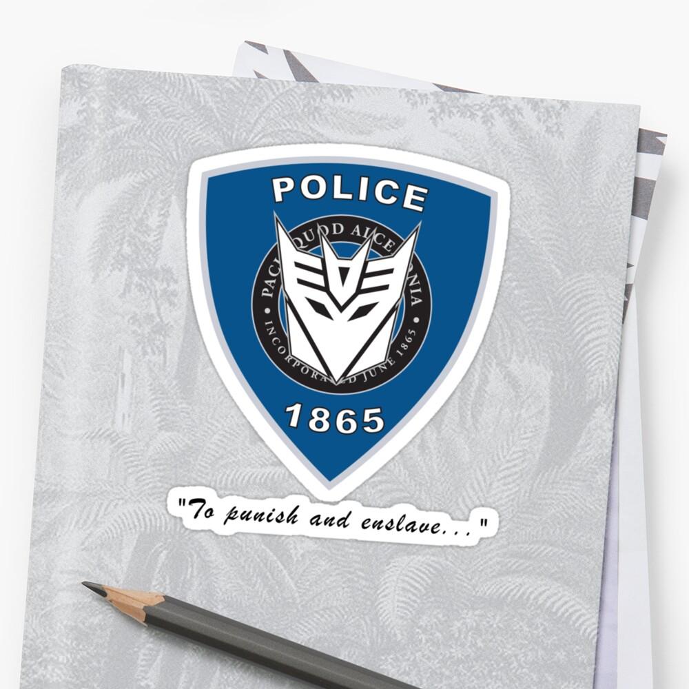 Transformers - Police Logo - Medium Size Logo by Jason Fitzsimmons