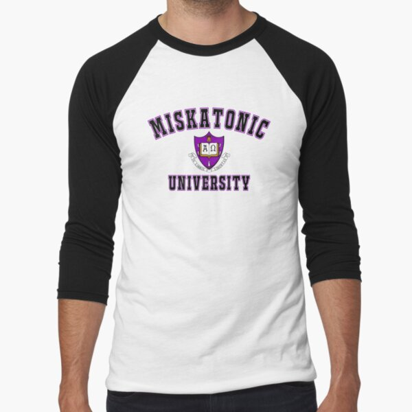 Miskatonic University Color Logo Baseball ¾ Sleeve T-Shirt