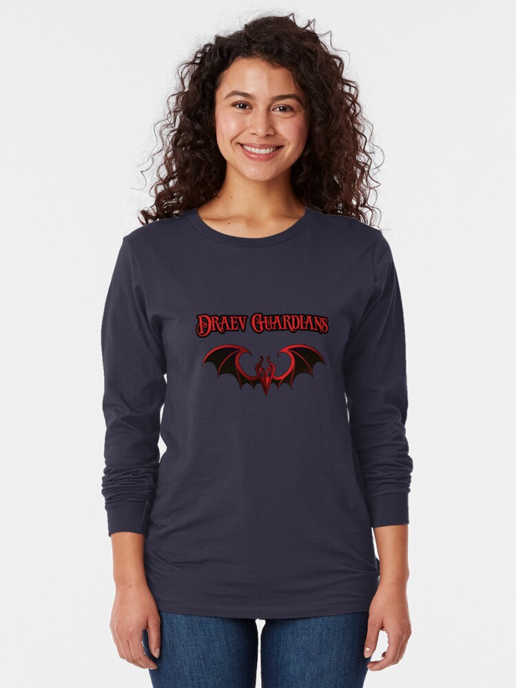 Alternate view of Draev Guardians wing symbol Long Sleeve T-Shirt