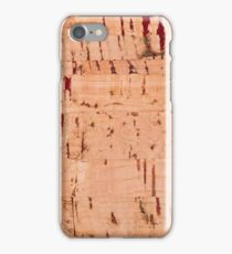 cork striped sheet texture abstract iPhone Case/Skin