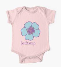 Buttercup flower Baby Body Kurzarm