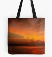 Sunset. Tejo river. Lisbon Tote Bag
