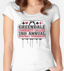 Greendale Paintball Tournament Women's Fitted Scoop T-Shirt
