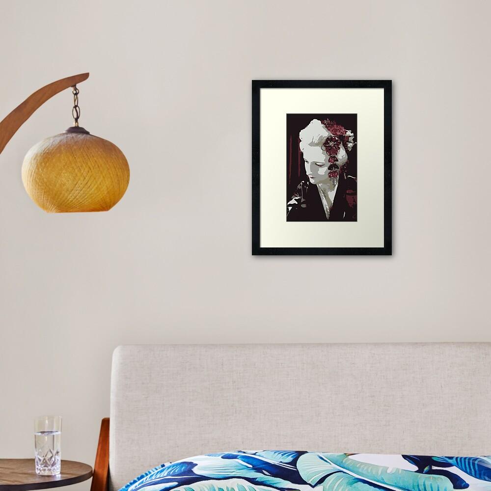 submissive Geisha Framed Art Print