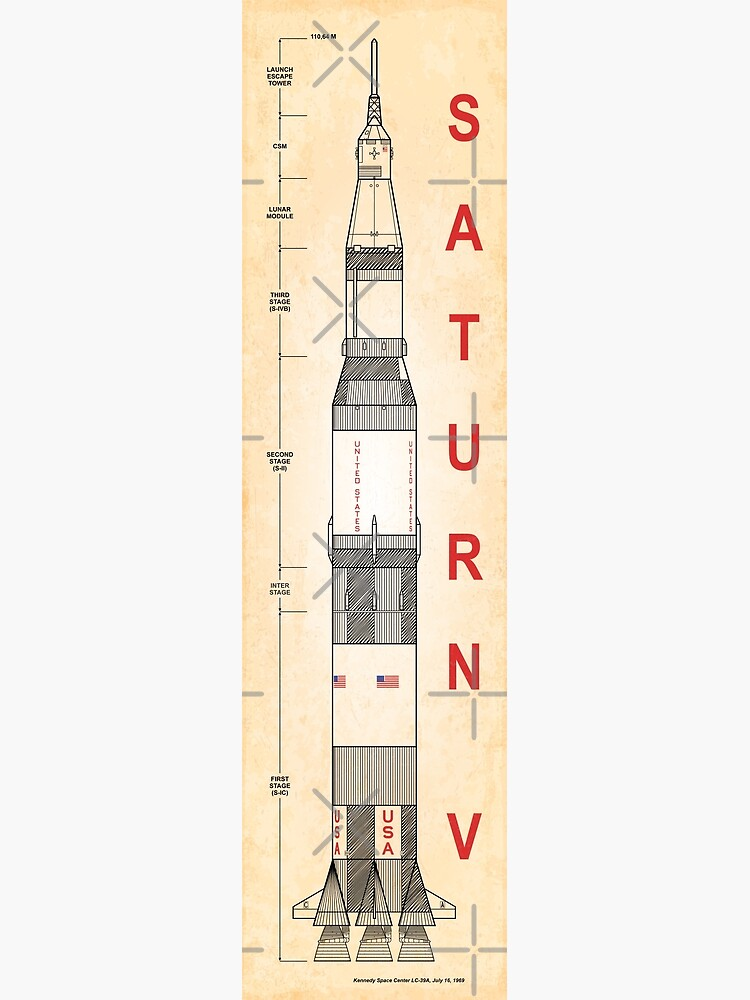 SATURN V (Old Paper-Vertical) by BGALAXY