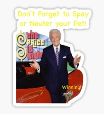 Bob Barker Spay or Neuter Your Pet Sticker