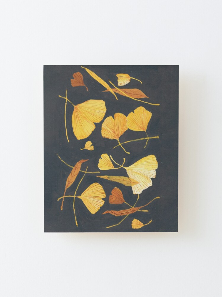 Alternate view of Ginkgo Leaves Mounted Print