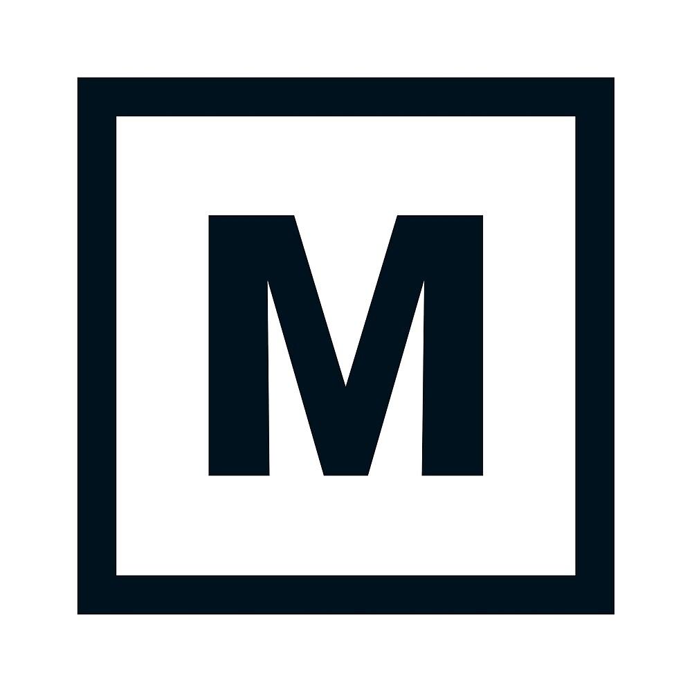 "Alphabet ""M"" by Hell-Prints"