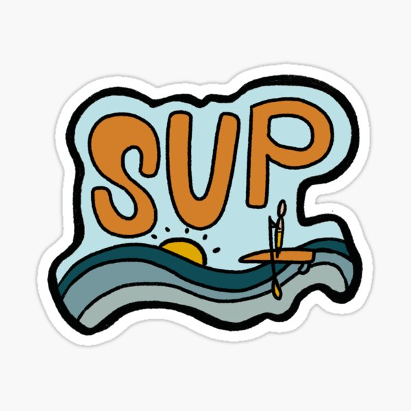 Conception de Stand Up Paddle Sticker