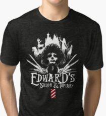 Edward's Salon and Topiary - Edward Scissorhands Tri-blend T-Shirt