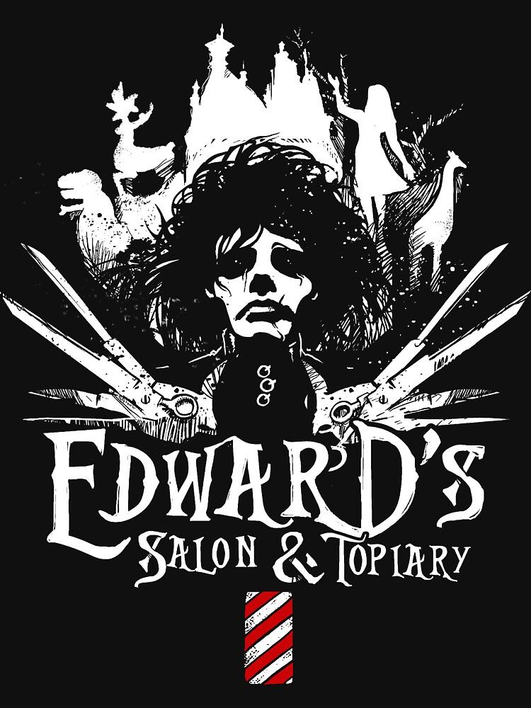 Edward's Salon and Topiary - Edward Scissorhands by jimiyo