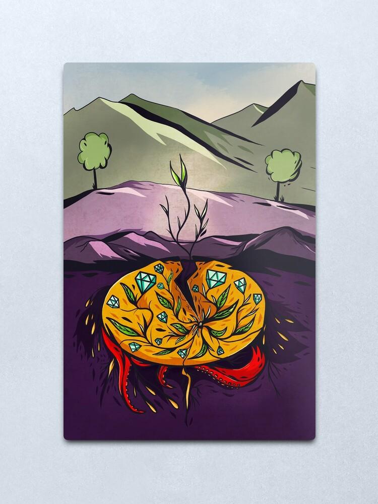 Alternate view of seed. Metal Print