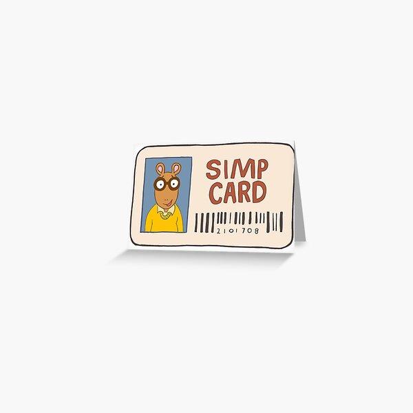 Simp Card Greeting Card