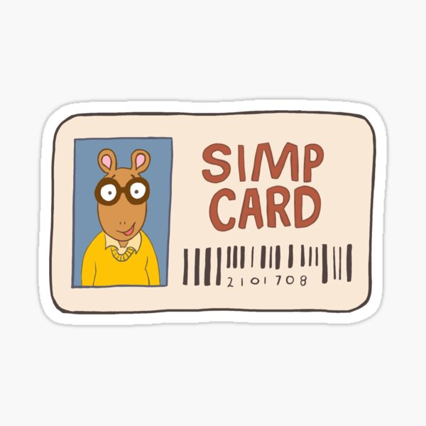 Simp Card Sticker