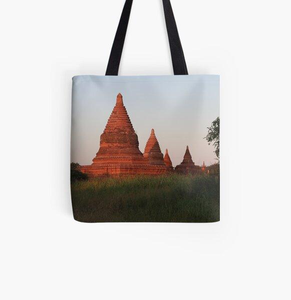Myanmar Pagoda All Over Print Tote Bag
