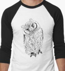 Owl hand drawn Men's Baseball ¾ T-Shirt