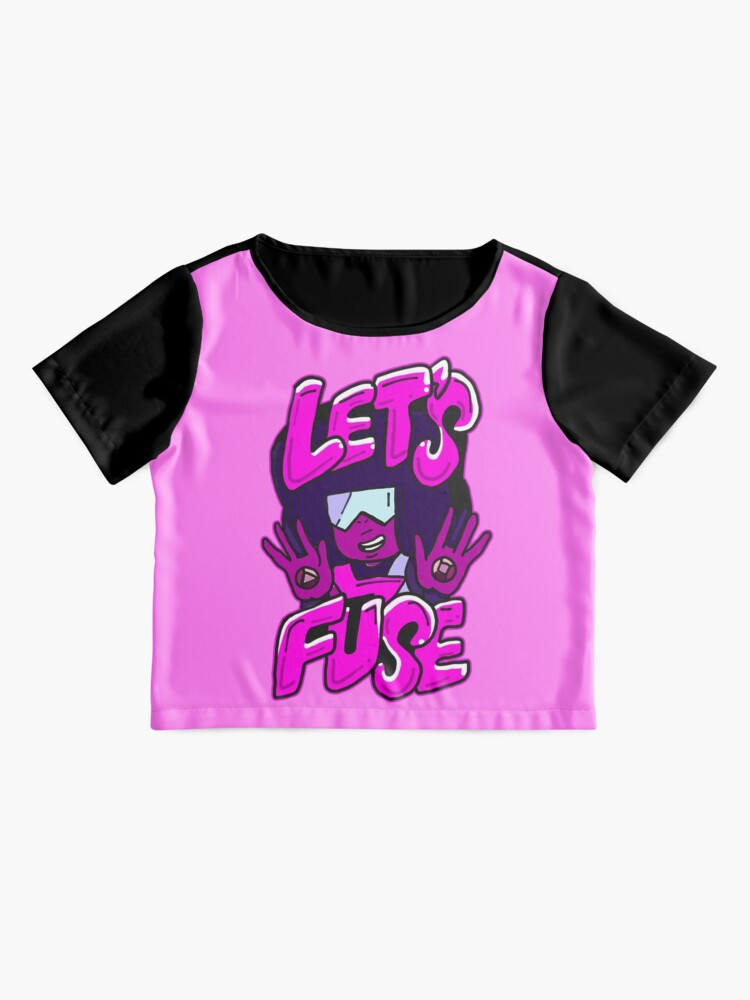 "Alternate view of Garnet from Steven Universe™ Valentine's Day themed quote ""Let's Fuse"" Chiffon Top"