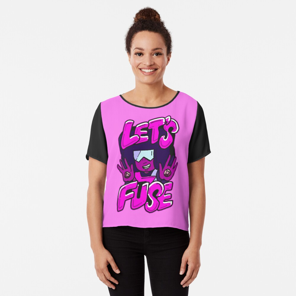 "Garnet from Steven Universe™ Valentine's Day themed quote ""Let's Fuse"" Chiffon Top"