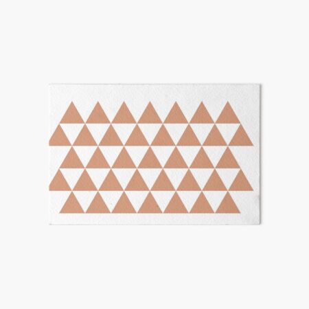 Tanning in Triangles Art Board Print