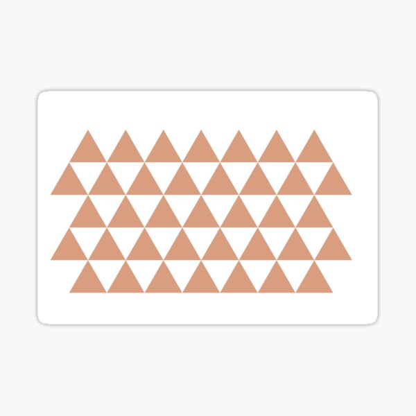 Tanning in Triangles Sticker